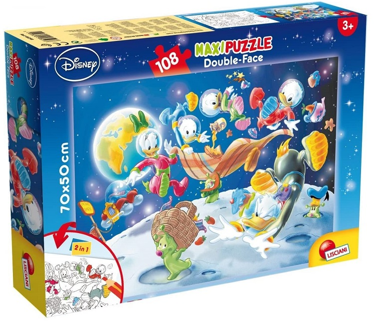 LISCIANI PUZZLE DF SUPERMAXI 108 MICKEY FUN FAIR ETA' DA 4 ANNI